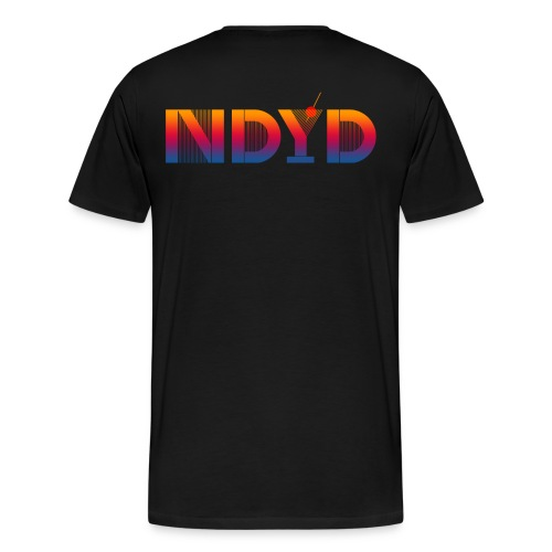 Track ID - NDYD on the Back - Men's Premium T-Shirt