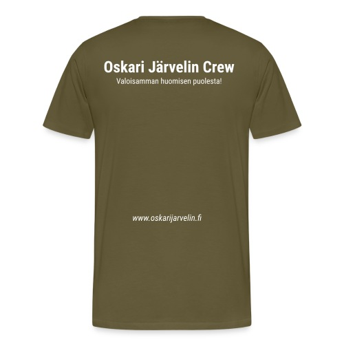 kotisivujen osoite - Miesten premium t-paita