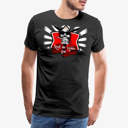 Logo mit weissen Strahlen png - Männer Premium T-Shirt