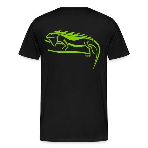 IGUANA Design Logo - Männer Premium T-Shirt