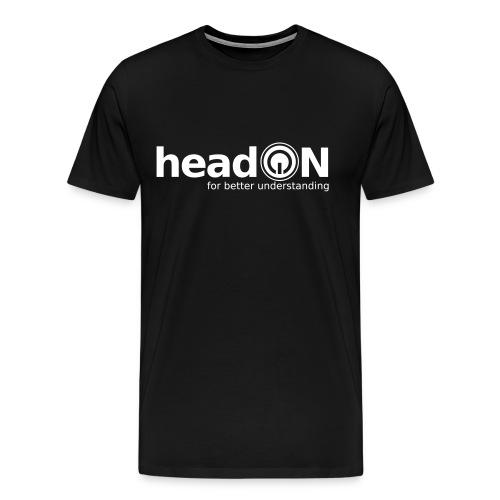 headon Logo SW - Männer Premium T-Shirt