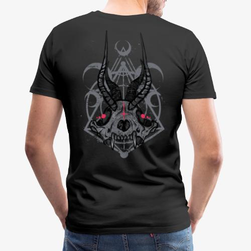 Fox Skull Demonlord - wh Logo - Männer Premium T-Shirt
