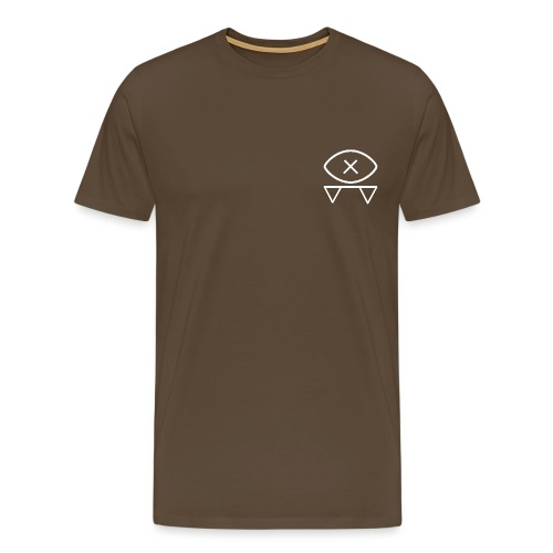 EYE LOGO white - Men's Premium T-Shirt