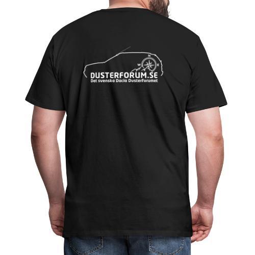 Dusterforum logo #2 Vit - Premium-T-shirt herr
