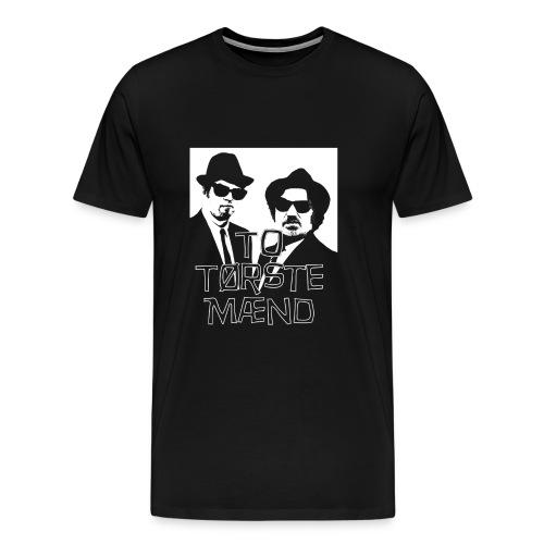 To Tørste Mænd gjs png - Premium T-skjorte for menn