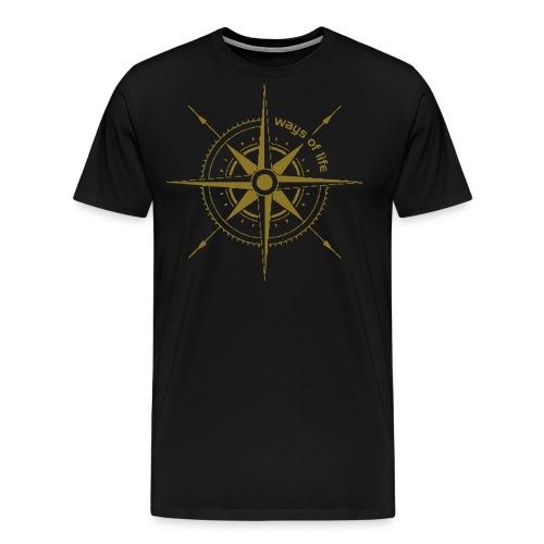 Ways of live Windrose - Männer Premium T-Shirt