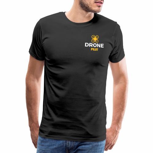 Logo Drone Pilot 5 klein - Mannen Premium T-shirt