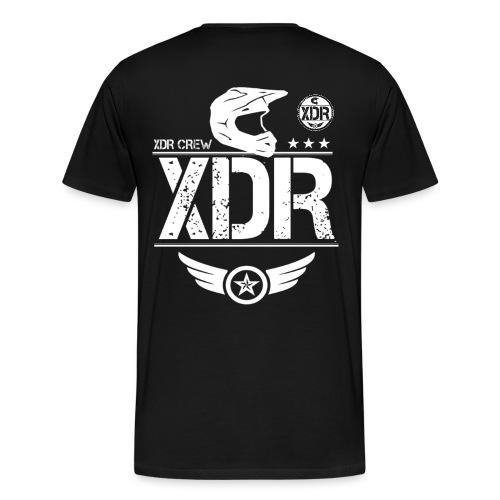 XDR CREW WHITE LOGO - Men's Premium T-Shirt