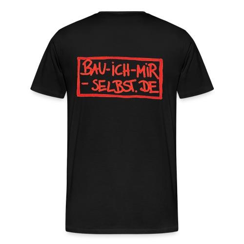 bau-ich-mir-selbst.de ROT - Männer Premium T-Shirt
