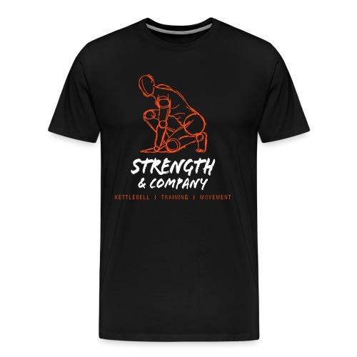 STRENGTH Company logo - Mannen Premium T-shirt