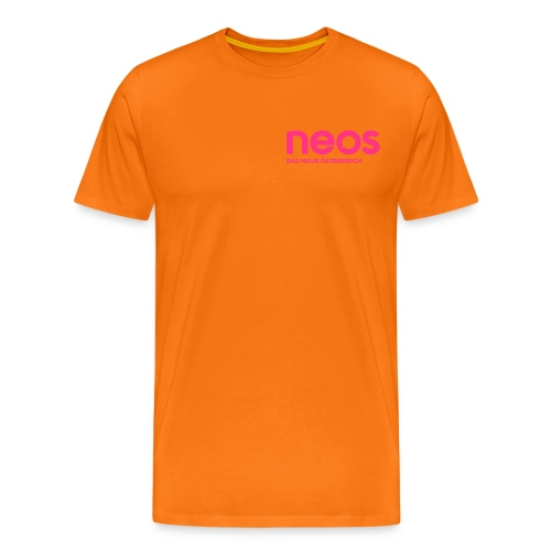 neos logo final pink - Männer Premium T-Shirt