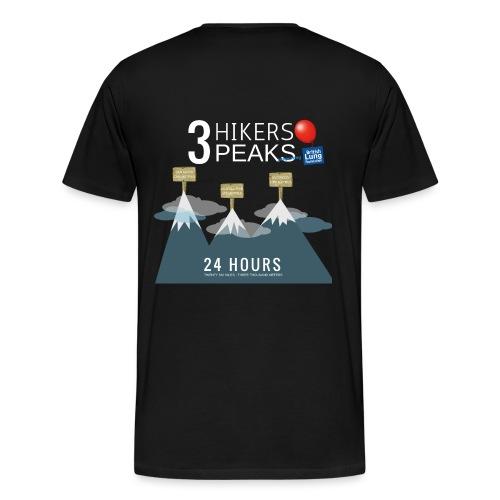 3 Hikers 3 Peaks - Men's Premium T-Shirt