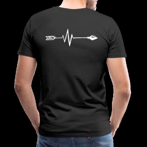 Beating arrow - Herre premium T-shirt