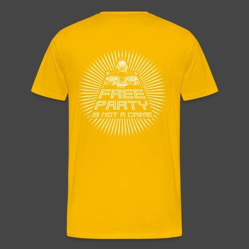 free party n'est pas un crime tekno 23 - T-shirt Premium Homme