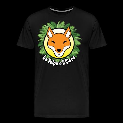 La volpe logo con palme - Maglietta Premium da uomo