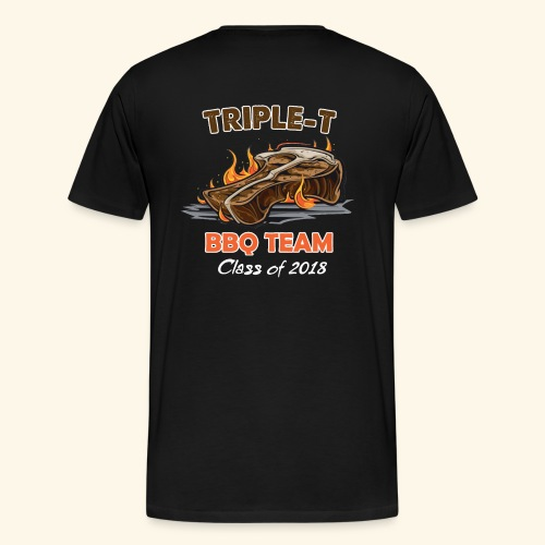 Triple T 2018 back - Mannen Premium T-shirt