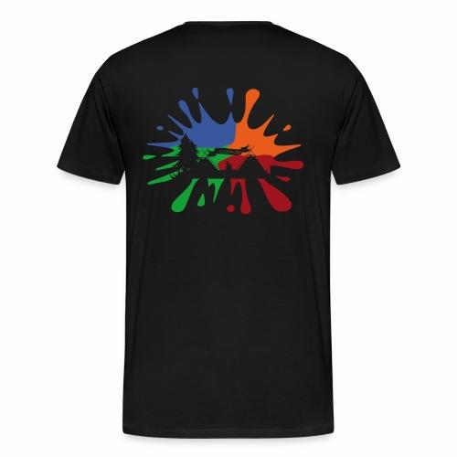 Farbklecks-Lager - Männer Premium T-Shirt