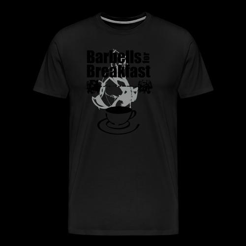 Barbells for Breakfast Logo - Männer Premium T-Shirt