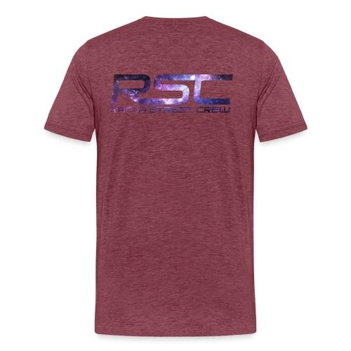 Rapla Street Crew Logo Galaxy - Men's Premium T-Shirt