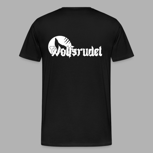 Logo Wolfsrudel Weiß - Männer Premium T-Shirt