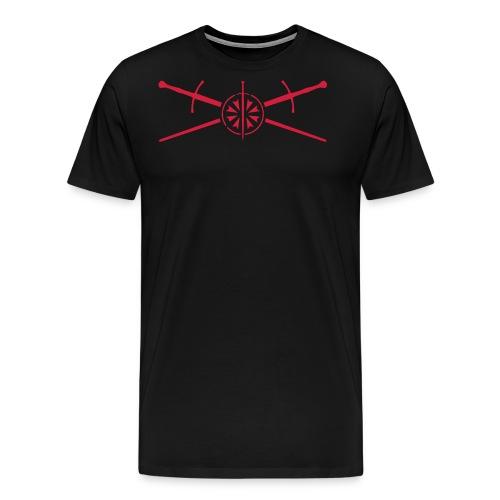 Cap-gekreuzte Schwerter-0 - Männer Premium T-Shirt