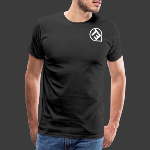 Gedrehtes Logo Weiss - Männer Premium T-Shirt
