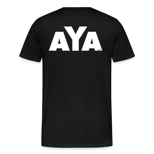 AYA Frauen Shirt - Rückenaufdruck - Männer Premium T-Shirt