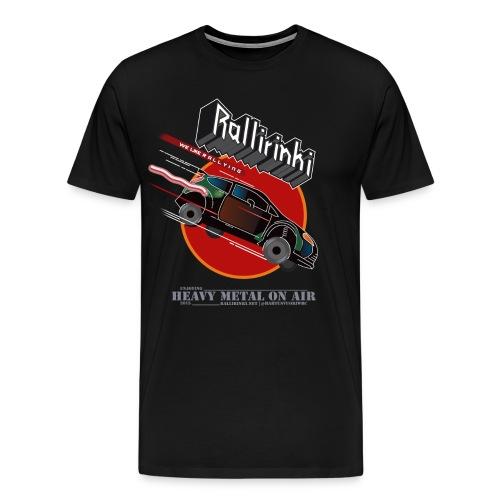 JUDASPRIESt VALMIS for black shirt png - Miesten premium t-paita