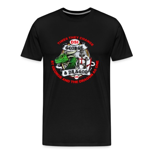 St George Dragon times they change v4 png - Men's Premium T-Shirt