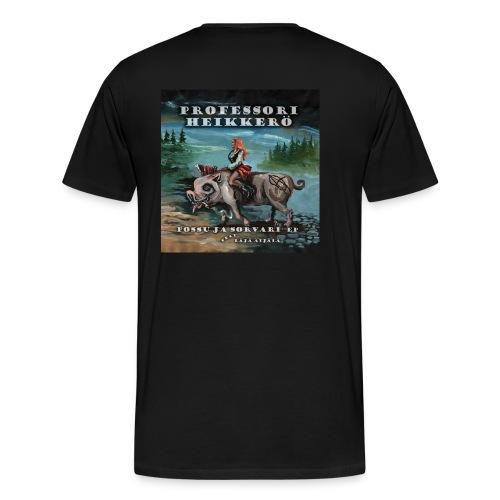 possu ja sorvari kansi - Miesten premium t-paita
