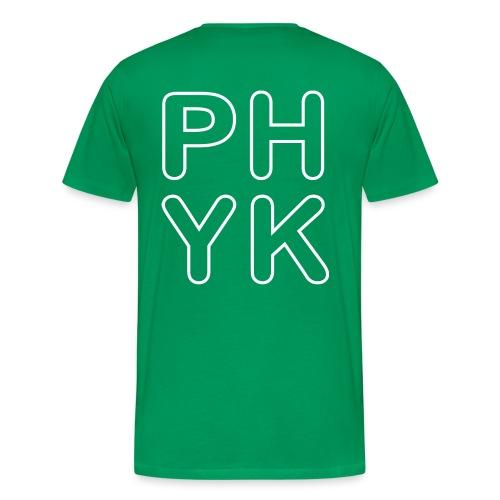 PHYK selkäpainatus - Miesten premium t-paita