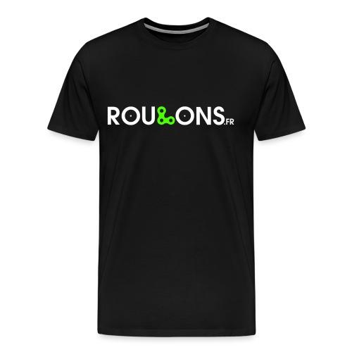 logoblancFluo_Roulons.fr - T-shirt Premium Homme
