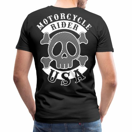 Motorcycle Rider USA - T-shirt Premium Homme