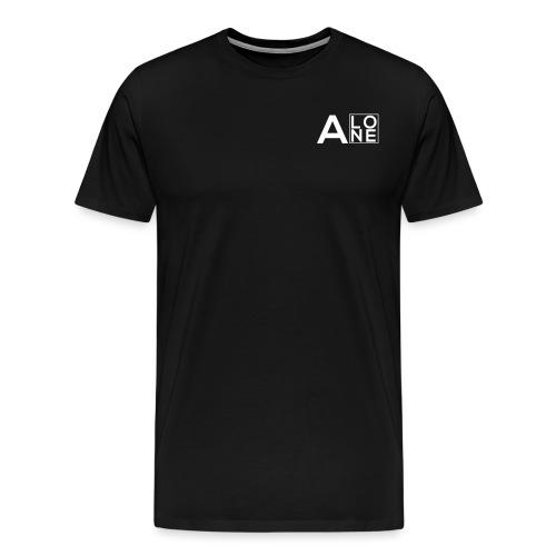 Alone Box Logo white - Men's Premium T-Shirt