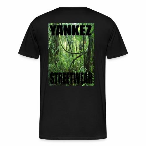 Yankez Backprint Jungle - Männer Premium T-Shirt