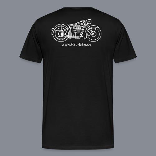 Motorrad_CS2_weiss + URL - Männer Premium T-Shirt