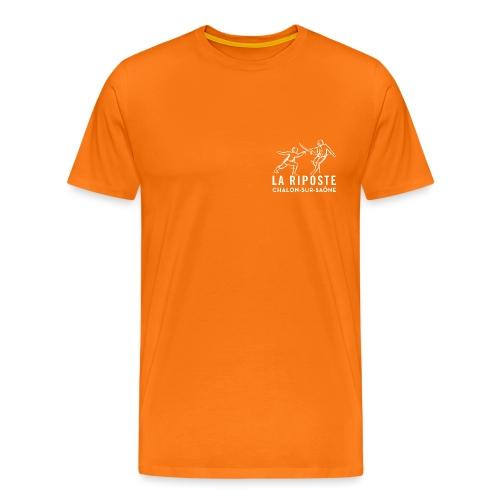 La Riposte Blanc - T-shirt Premium Homme