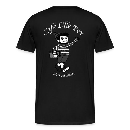 Cafe LillePer Logo BW - Herre premium T-shirt