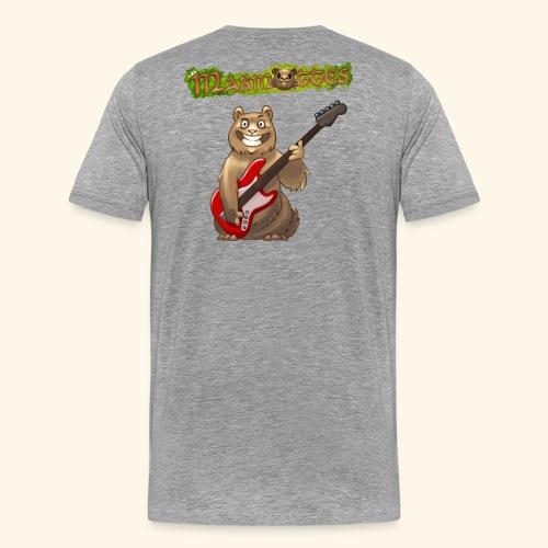 Tshirt Homme Bassiste dos - T-shirt Premium Homme