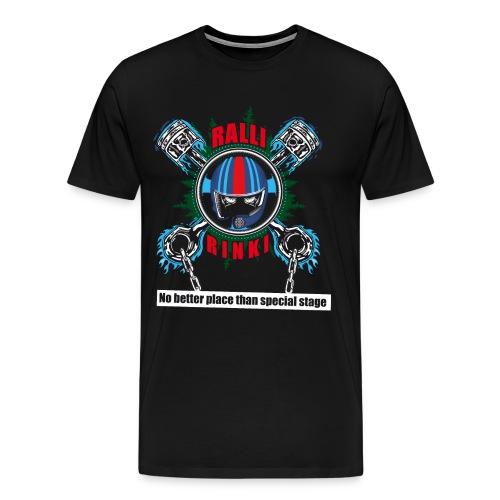 RALLIRINKI pistons FINAL - Miesten premium t-paita