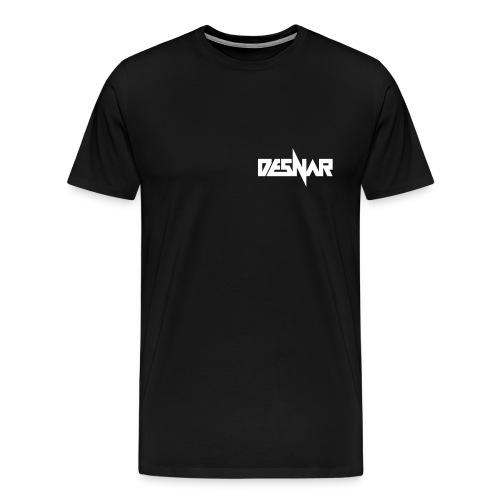 Desnar Logo Wit - Mannen Premium T-shirt