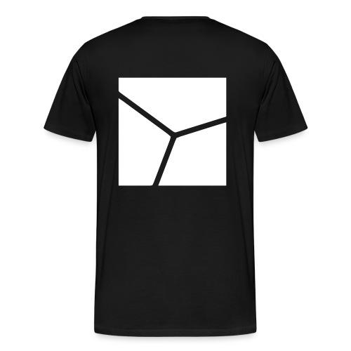 Logo in Weiß - Männer Premium T-Shirt