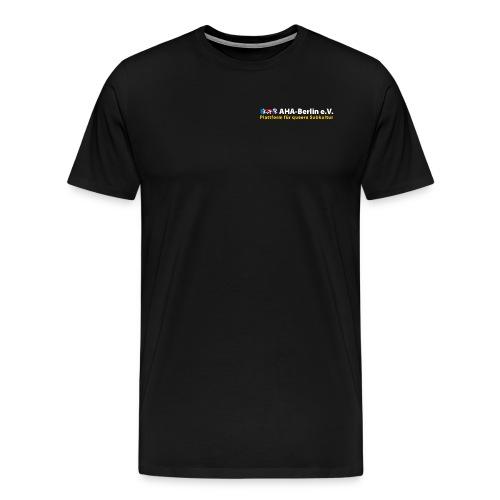 Logo flach für dunkle Shirts - Männer Premium T-Shirt