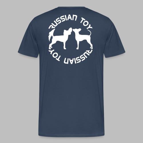 koirasilhuetti teksti - Miesten premium t-paita