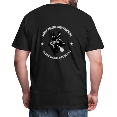 Svendborg PH hvid skrift - Herre premium T-shirt