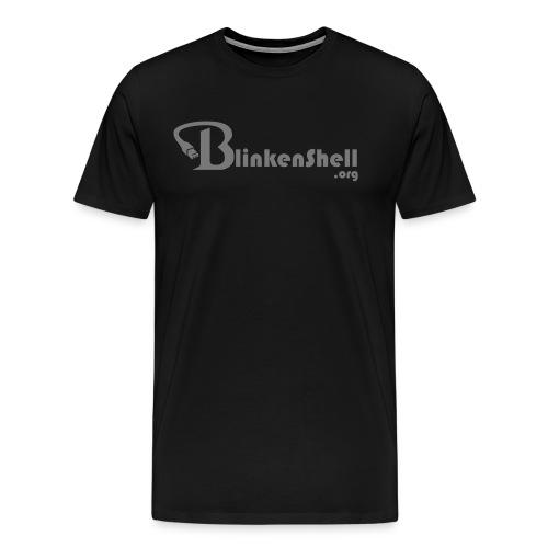 blinkenshell_shirt2_grey - Men's Premium T-Shirt