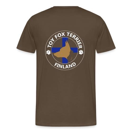 finland tft mustapaa - Miesten premium t-paita