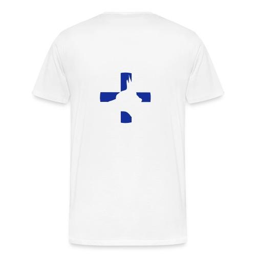 Finland TFT pää - Miesten premium t-paita