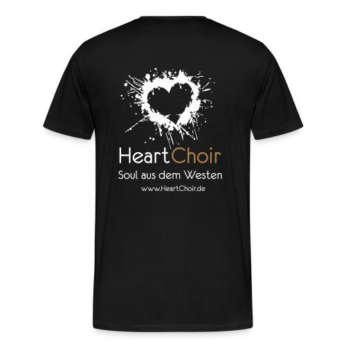 heartchoir logo mit schriftzug und webse - Männer Premium T-Shirt