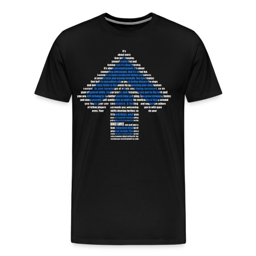 dance games blue white - Männer Premium T-Shirt